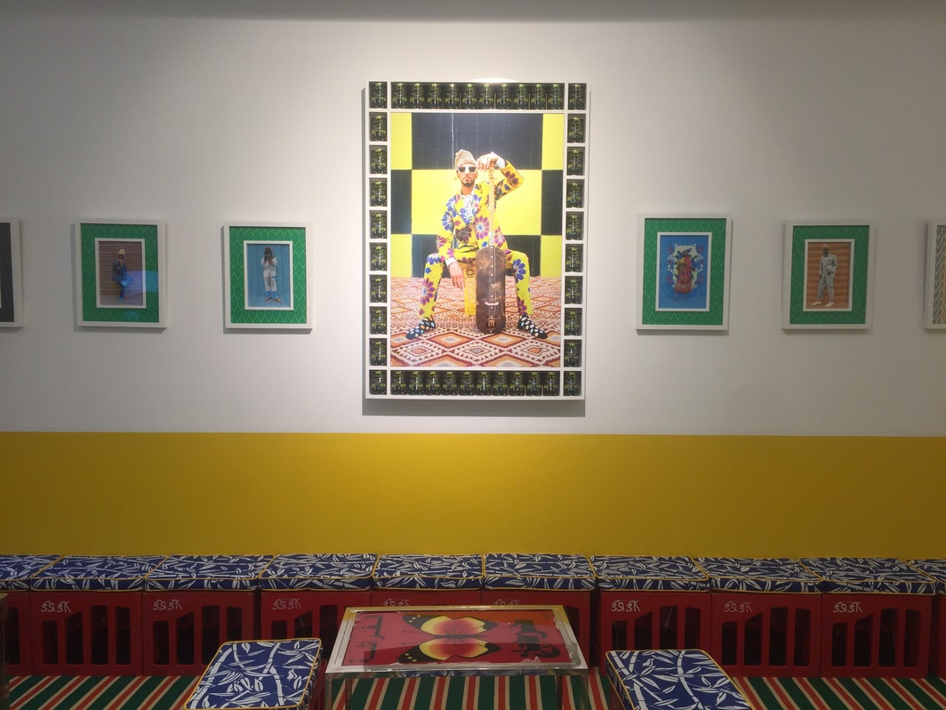 View of the Hassan Hajjaj installation at MACAAL.