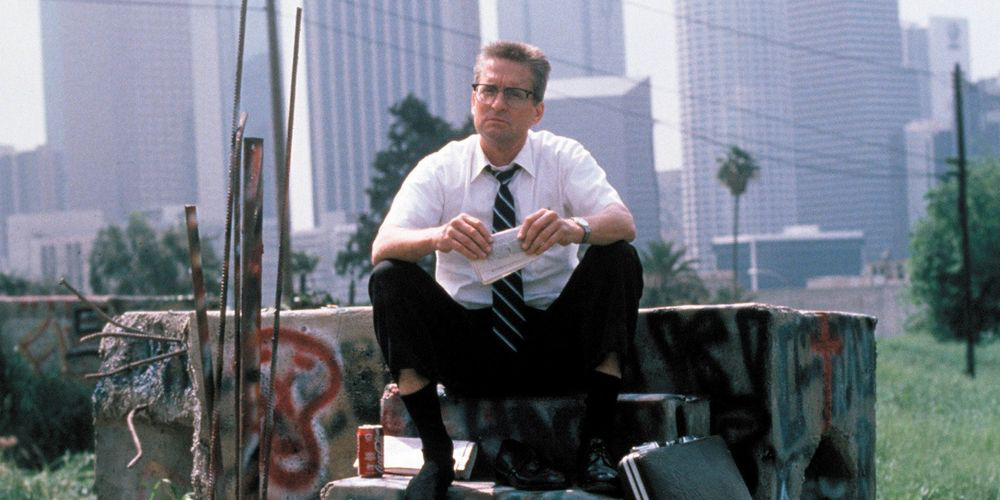 Joel Schumacher, Falling Down, 1993, 35 mm, sound, color, 113 minutes. William Foster (Michael Douglas).