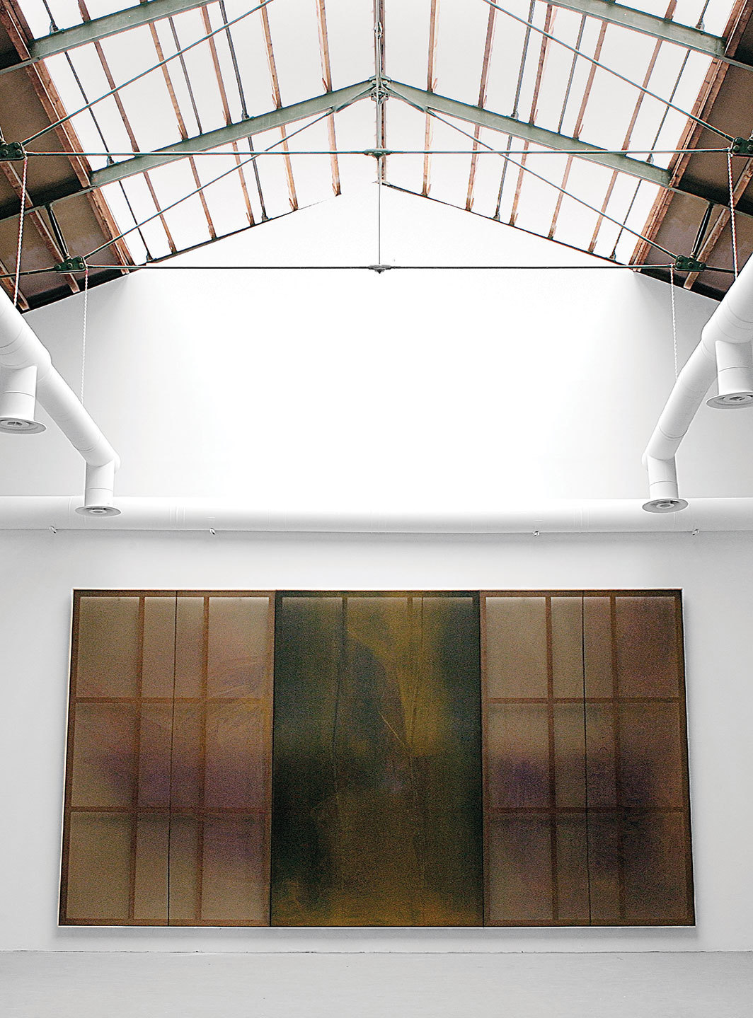 Sigmar Polke, Deucalion's Flood (Axial Age), 2007, violet pigments and mixed media on fabric. Installation view, Italian Pavilion, Fifty-second Venice Biennale.