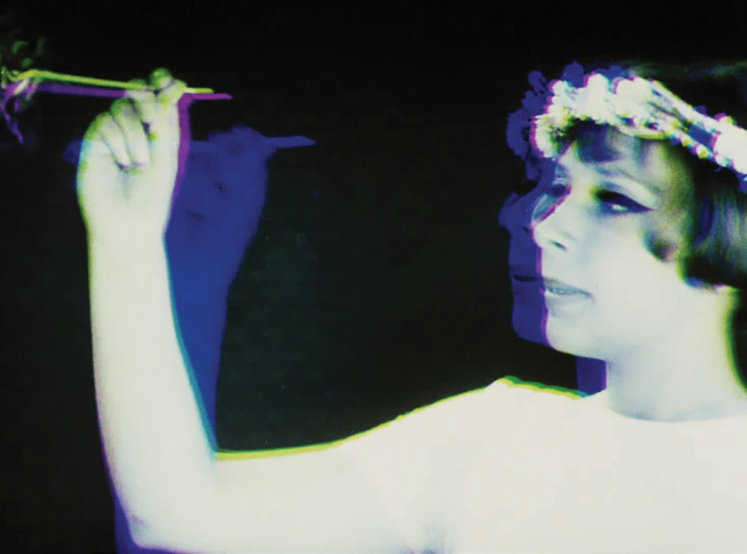 Still from Věra Chytilová's Sedmikrásky (Daisies), 1966, 35 mm, color and black-and-white, sound, 76 minutes. Ivana Karbanová (Marie II).