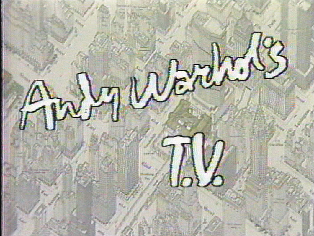 Andy Warhol's T.V., 1980–83, still from a TV show on MSG Network and Manhattan Cable TV. Season 1, episode 18.