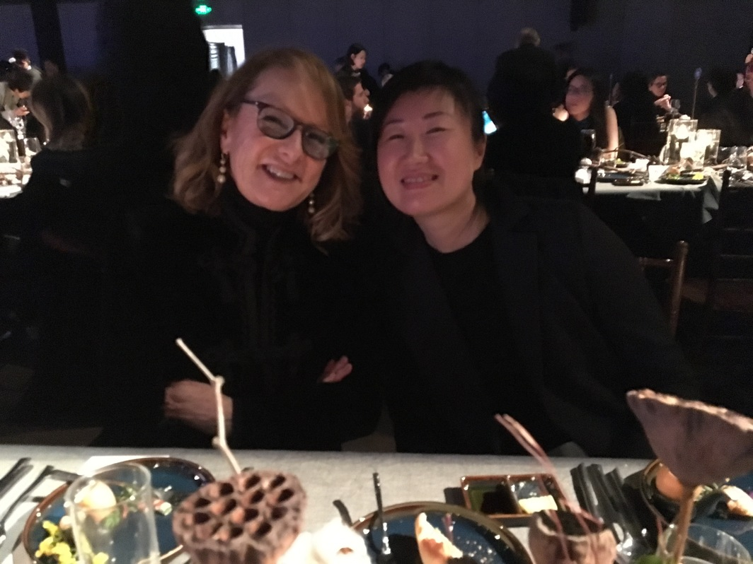 Ann Philbin of the Hammer Art Museum, and managering partner of the Boers-Li Gallery, Jia Wei.