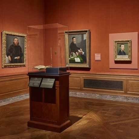 "Installation view of ""Moroni: The Riches of Renaissance Portraiture."" Photo: The Frick Collection in New York."