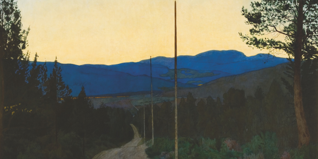 "Harald Sohlberg, The Country Road, 1905, oil on canvas, 37 1/2 x 43""."