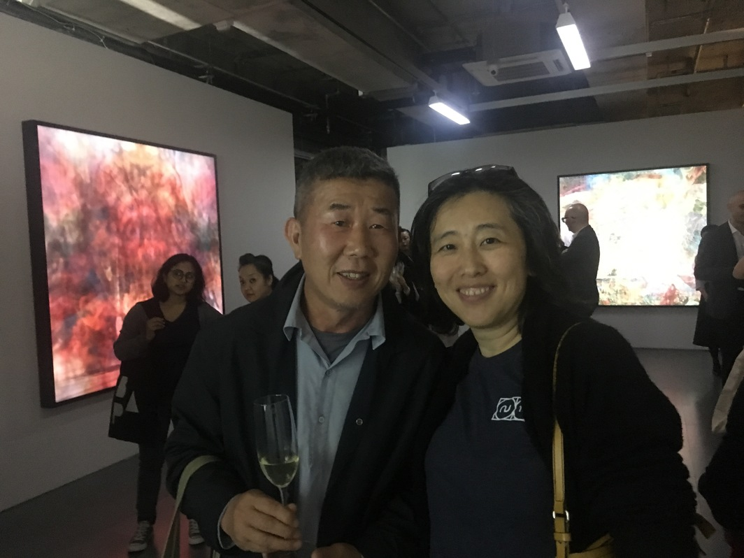 Abby Chen and Rudy Tseng at Edouard Malingue Gallery opening.