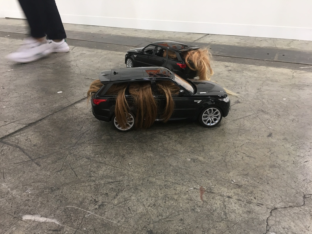 Nina Beier, Automobile, 2018, at Metro Pictures booth.