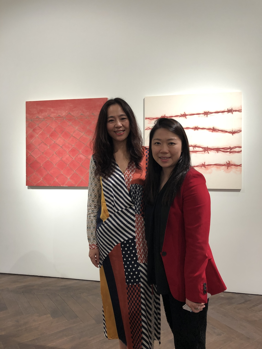 Dealer Henrietta Tsui and artist Zhang Yanzi. Photo: Ruishi Ge.