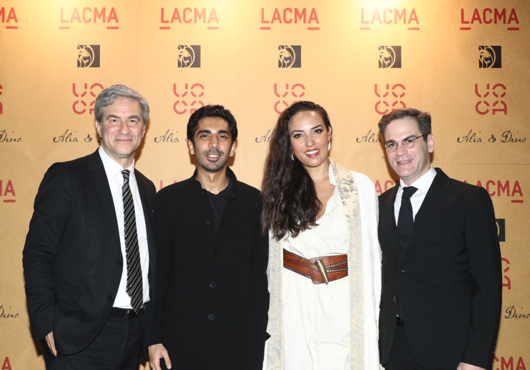 LACMA director Michael Govan, entrepreneur Dino Sadhwani, Princess Alia Al-Senussi, and UCCA director Philip Tinari (clockwise). Photo courtesy UCCA.