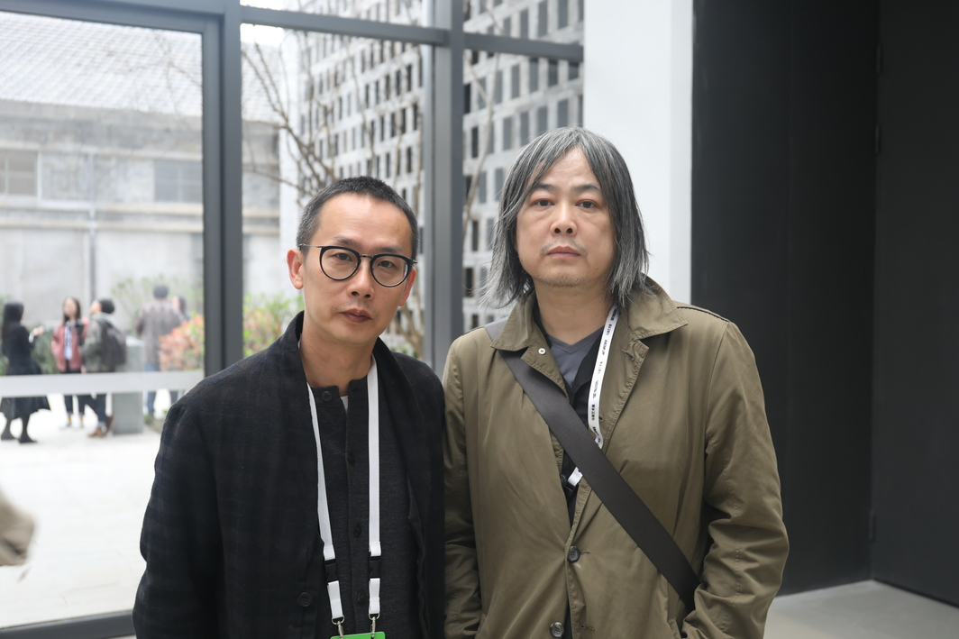 Artists Jiang Zhi and Yang Fudong.