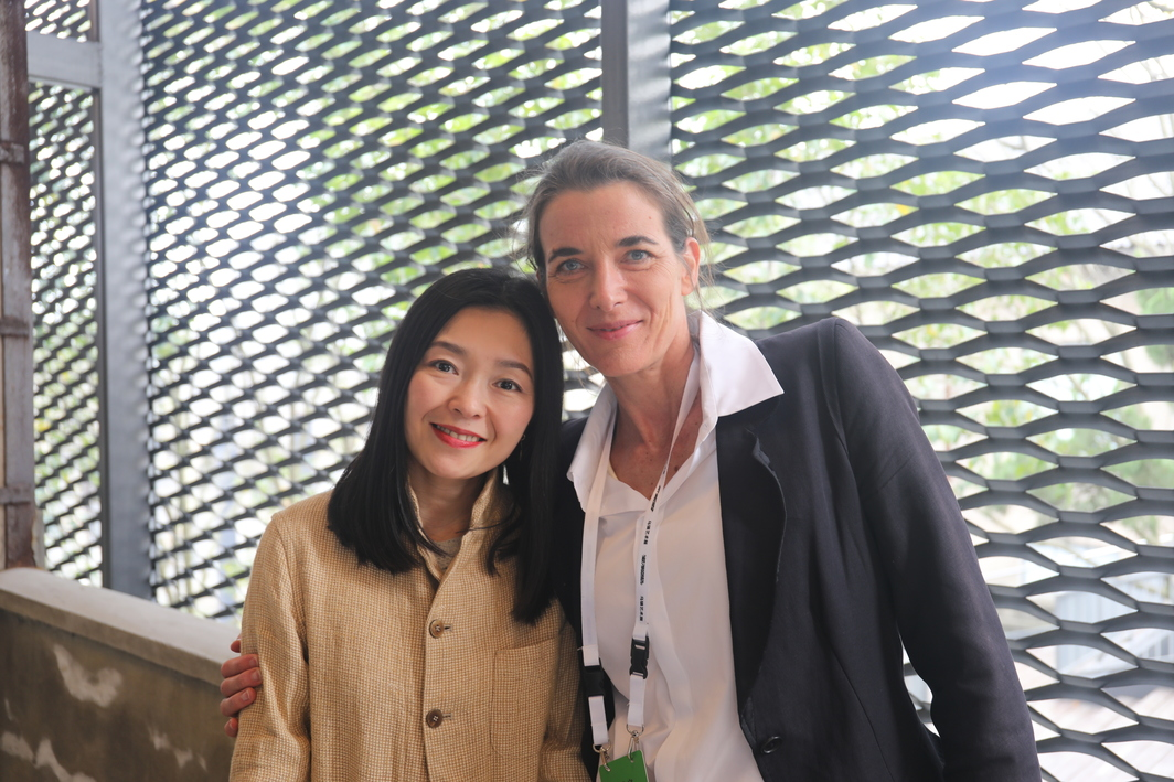 Artists Peng Wei and Katja Schenker.
