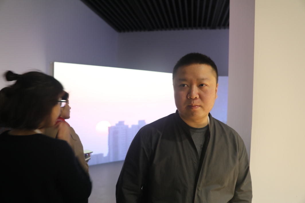 Artist Wang Tuo, winner of Youth Contemporary Art Wuzhen Award.