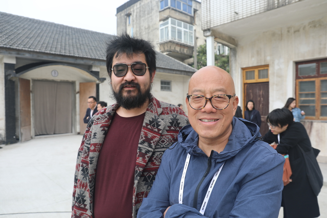 Artists Zhang Yue and Zhuang Hui.