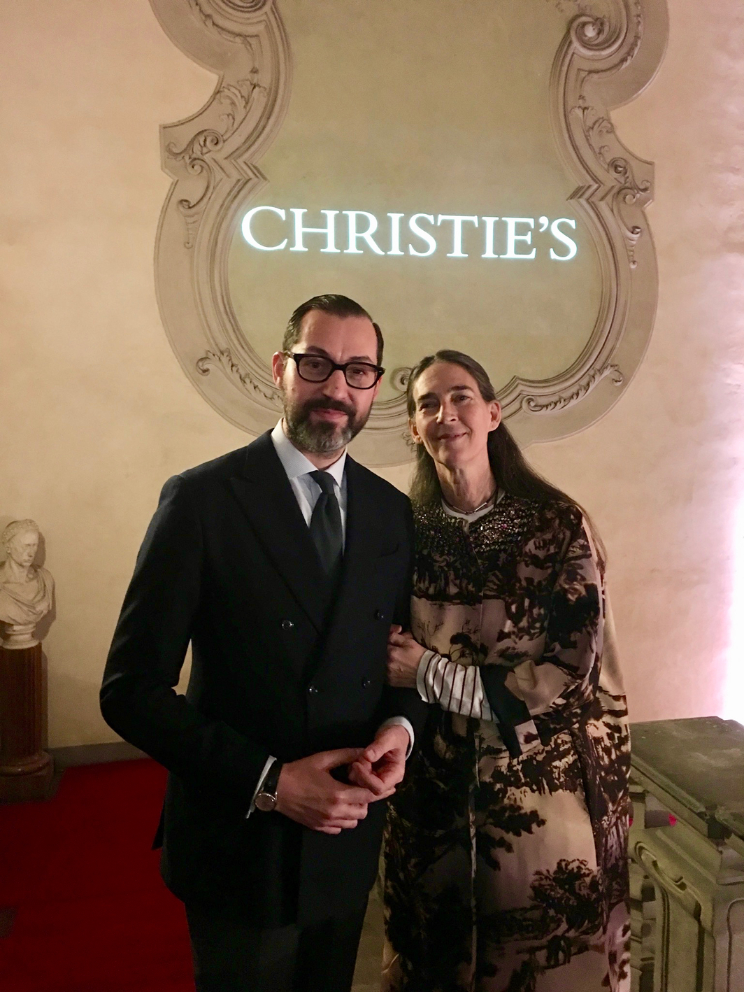 Cristiano De Lorenzo, director Christie's Italy, and Bianca Arrivabene Valenti Gonzaga, Deputy Chairman at Christie's Italy.