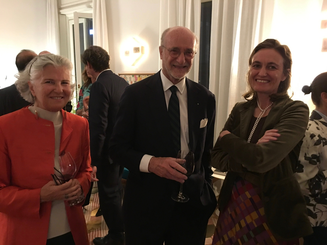 Philanthropist Martina Rocca Fiocchi, Gianfelice Rocca, President of Techint Group, and Francesca Bazoli President Brescia Musei.