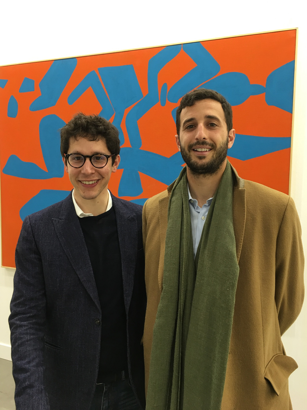 Gallerist Tommaso Calabro with Lorenzo Rebecchini of Sotheby's Italy