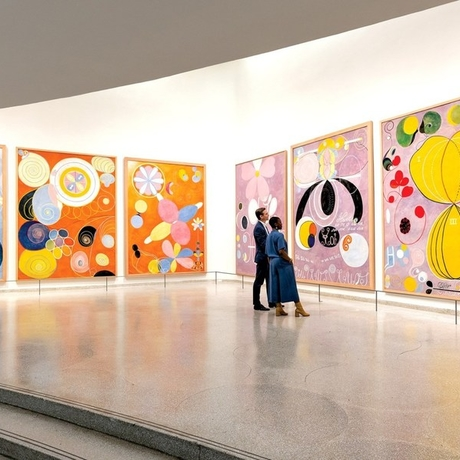 "Installation view of ""Hilma af Klint: Paintings for the Future."" Photo: the Solomon R. Guggenheim Museum."