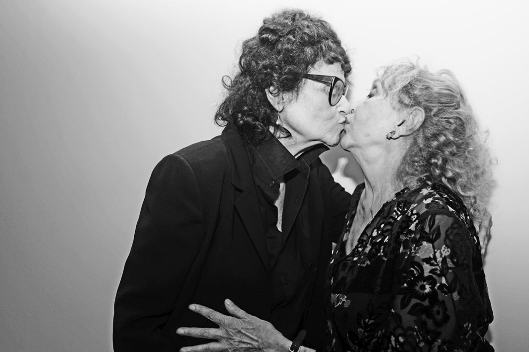 Judith Bernstein and Carolee Schneemann, New York, 2016. Photo: Pola Esther.