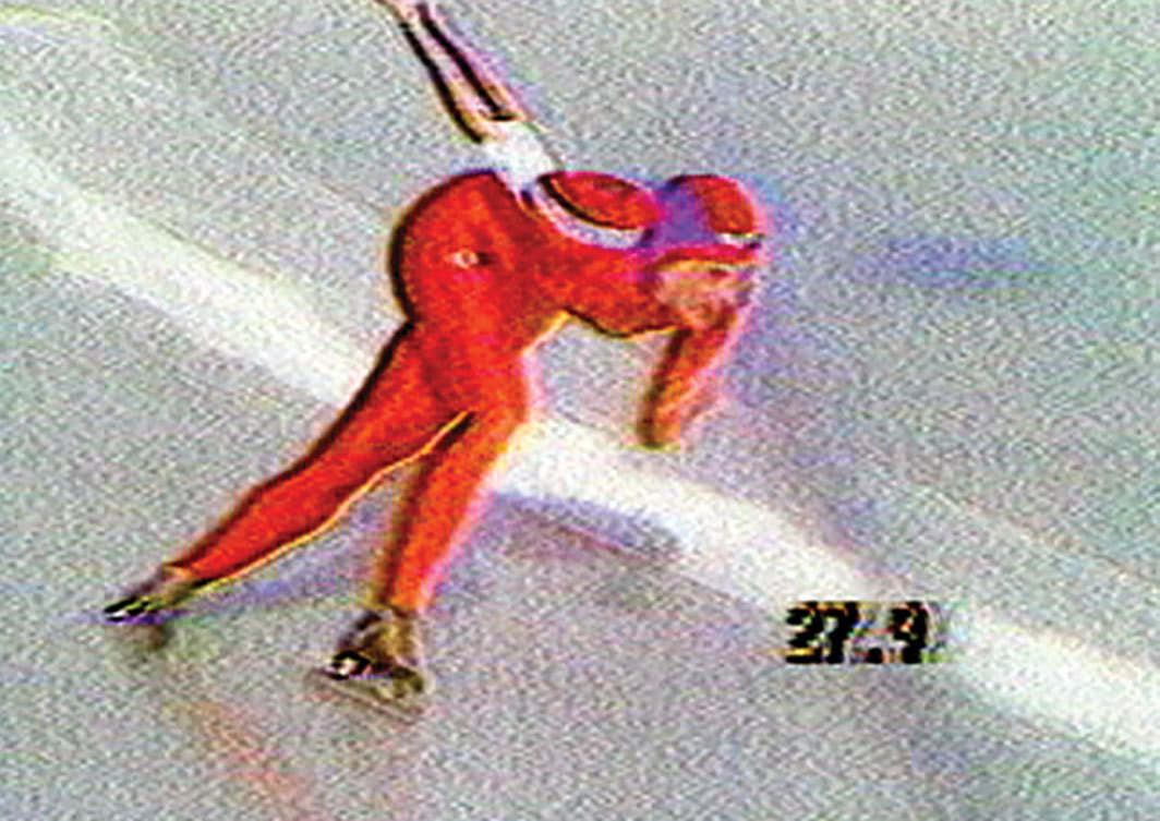 Dara Birnbaum, Pop-Pop Video: General Hospital/Olympic Women Speed Skating, 1980, video, color, sound, 5 minutes 32 seconds.