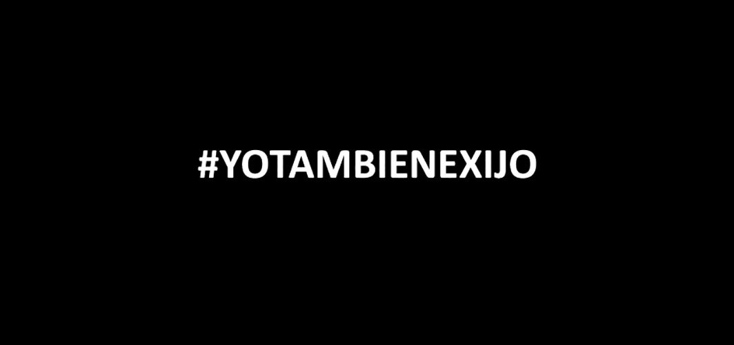 Logo for Tania Bruguera's #YoTambienExijo (I Also Demand), 2014.