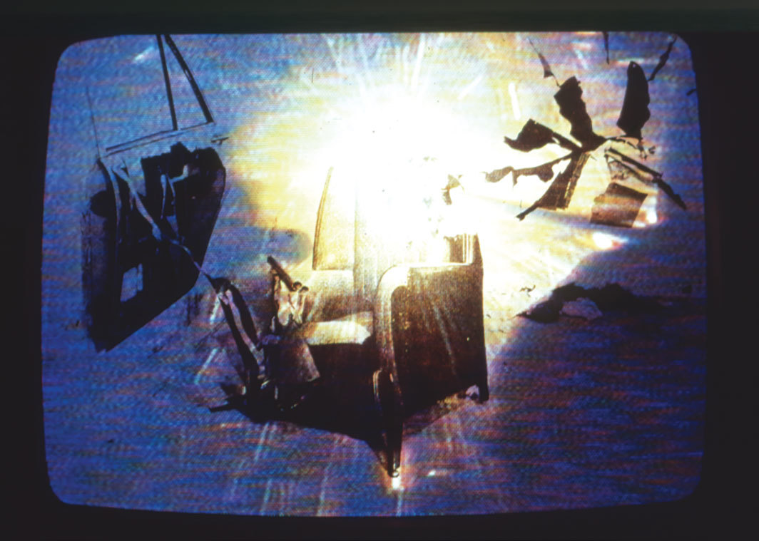 Gretchen Bender, Reality Fever, 1983, video, color, silent, 6 minutes 20 seconds. © The Gretchen Bender Estate and OSMOS