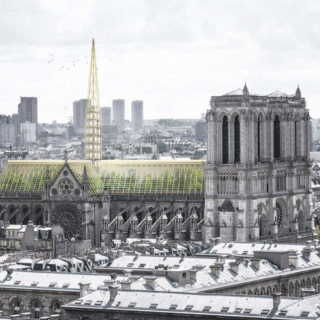 Notre Dame Cathedral reconstruction rendering by Studio NAB.