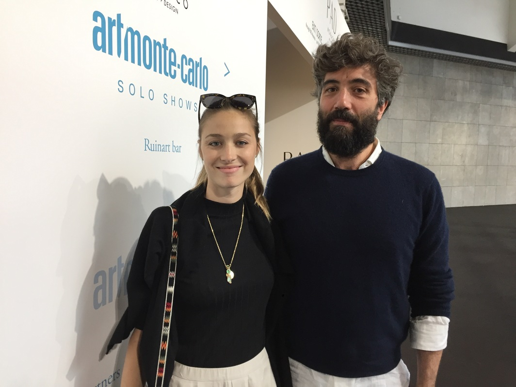 Beatrice Borromeo, ambassador of Art Monte Carlo, and Nouveau Musée National de Monaco curator Cristiano Raimondi.