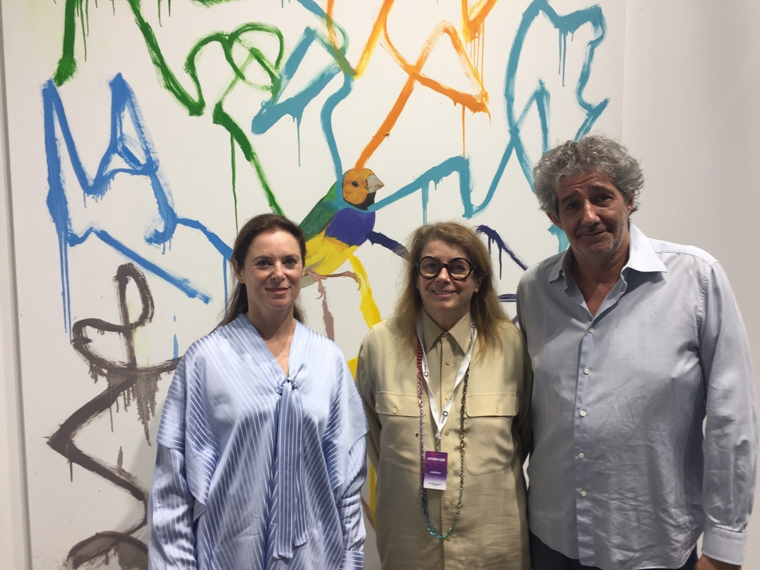 Dealer Fabienne Leclerc and dealers Florence Bonnefous and Edouard Nerino of Air de Paris.