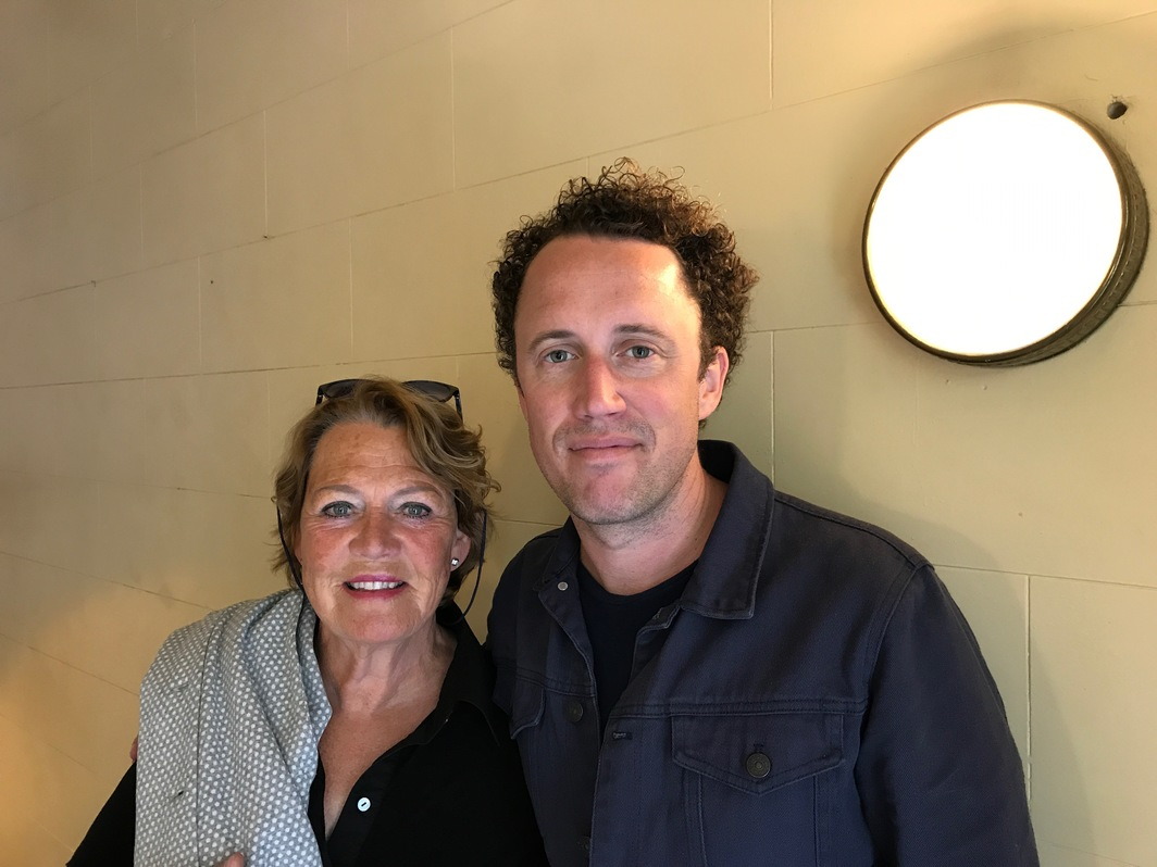 Krist Gruijthuijsen and his mom Marlie.