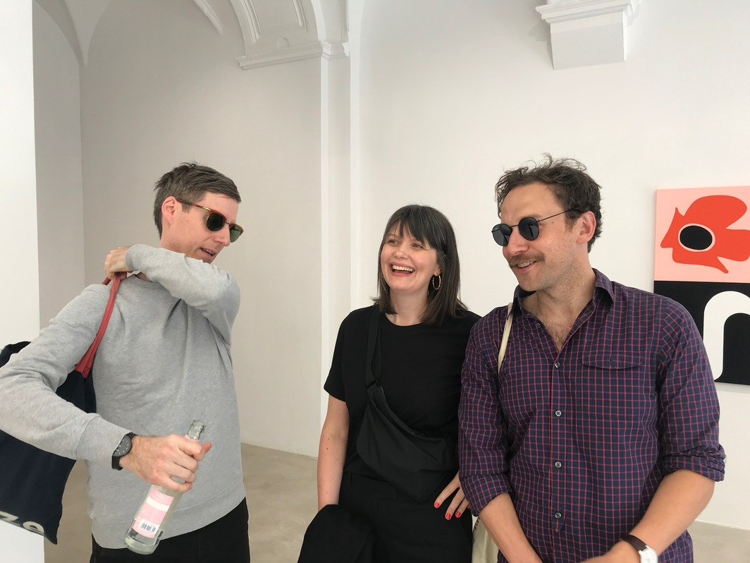 Tim Saltarelli from Miguel Abreu, Curator Kyla McDonald, and Mitch Speed.