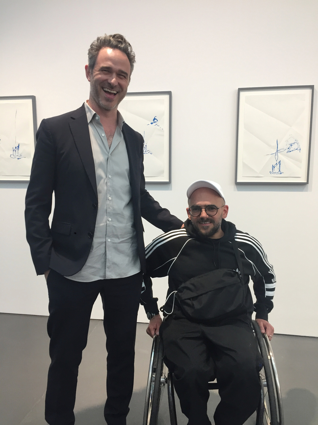 Dealer Manuel Miseur (Esther Schipper) and artist Ryan Gander.