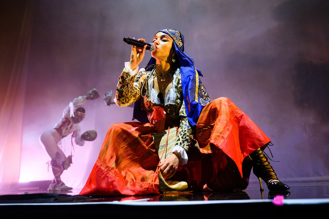 FKA twigs performing at Red Bull Music Festival New York 2019 at the Park Avenue Armory on May 12.