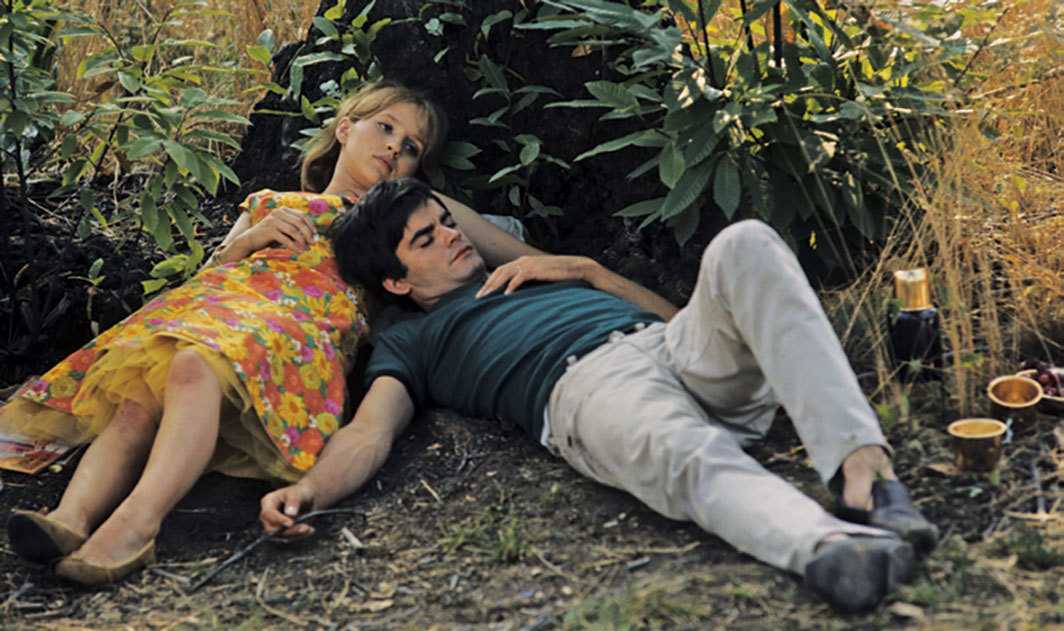 Agnès Varda, Le bonheur (Happiness), 1965, 35 mm, color, sound, 85 minutes. François (Jean-Claude Drouot) and Émilie (Marie-Françoise Boyer).