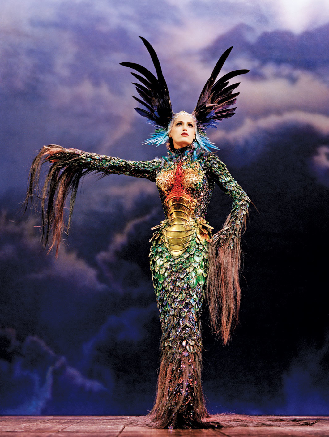 "Look from Thierry Mugler's Fall/Winter 1997–98 ""La Chimère"" collection. Photo: Alan Strutt."