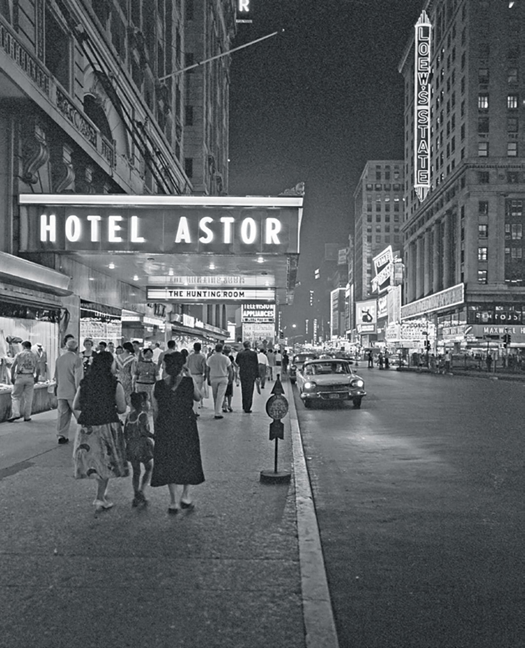 Hotel Astor, Times Square, New York, 1958. Photo: Marty Lederhandler/AP/Shutterstock.