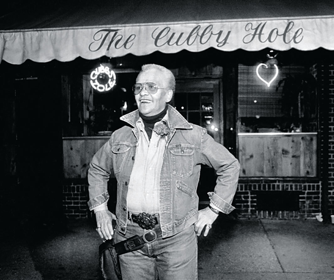 JEB (Joan E. Biren), Stormé DeLarverié working as a bouncer at the Cubbyhole, New York City, 1986.