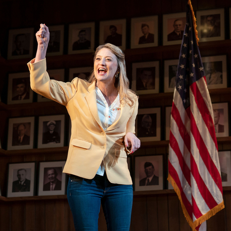 Heidi Schreck in What the Constitution Means to Me at New York Theatre Workshop. Photo: Joan Marcus.
