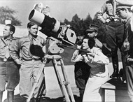 Leni Riefenstahl shooting Triumph of the Will, Nuremberg, September 1934.