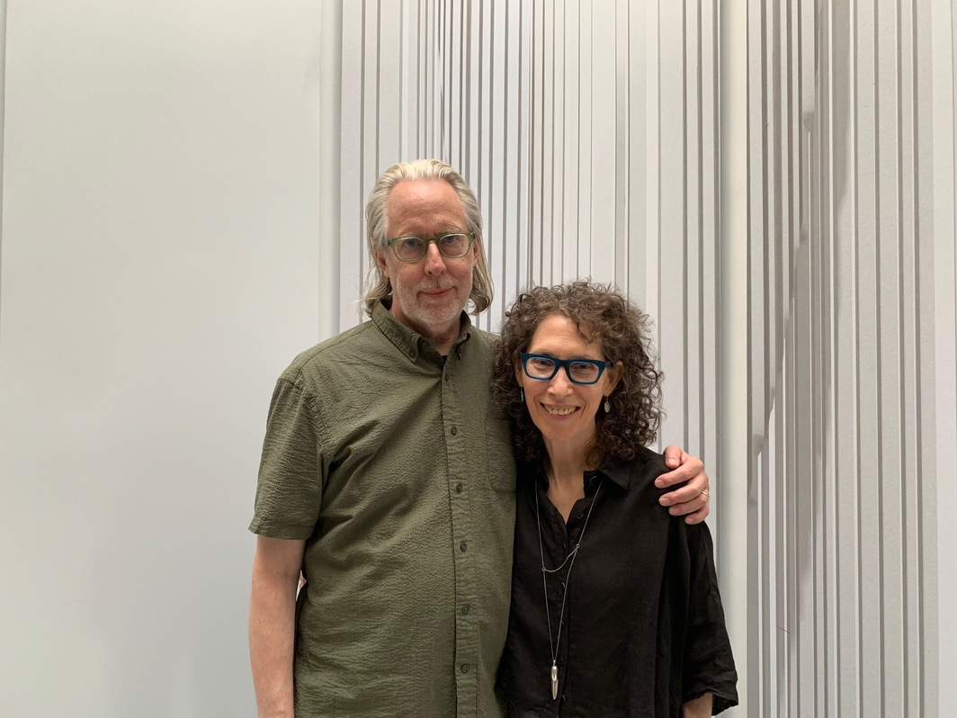 Artist James Welling and Filmmaker Jane Weinstock.