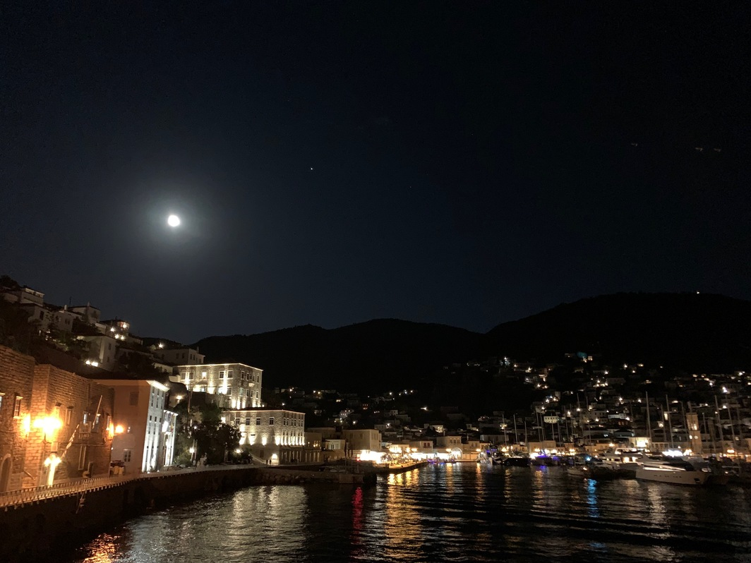 Full moon over Hydra.
