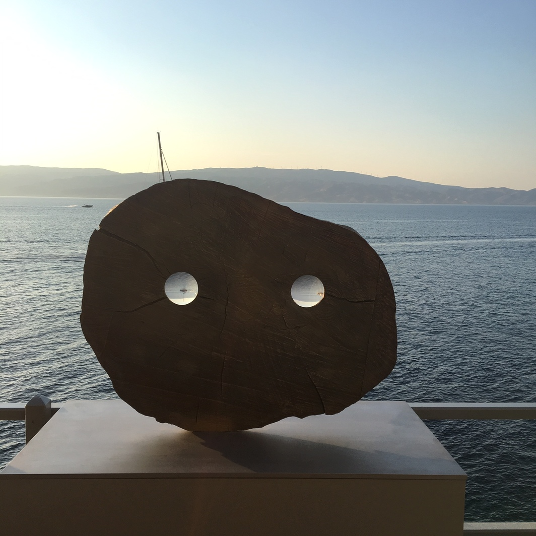 Kiki Smith's look out to the sea.