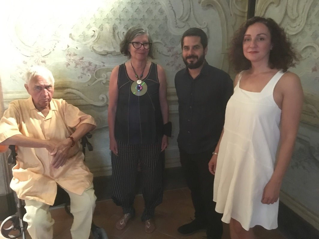 Artists Jimmie Durham, Maria Theresa Alves, Wilfredo Prieto and dealer Alessandra Minini.