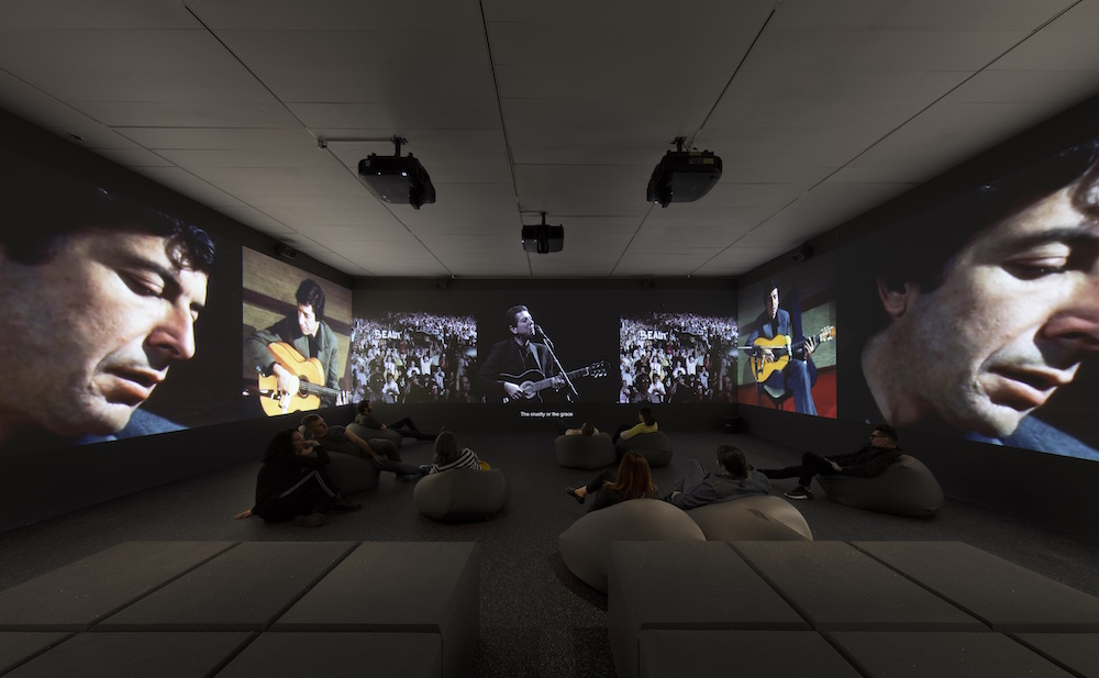 George Fok, Passing Through, 2017, multichannel video installation, black-and-white and color, sound, 56 minutes 15 seconds. Installation view, the Jewish Museum, New York, 2019.