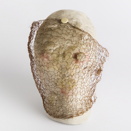 Marisa Merz, untitled, undated, unfired clay, paraffin, copper.