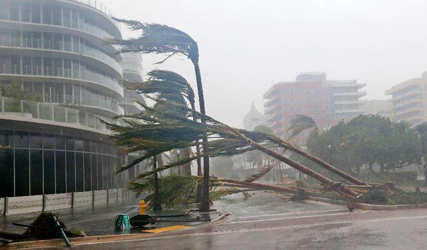 Miami Beach during Hurricane Irma, September 10, 2017. Photo: Wilfredo Lee/AP.