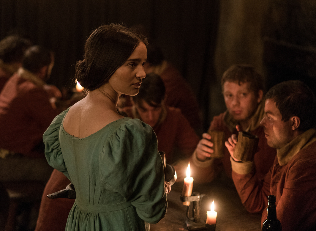Still from Jennifer Kent's The Nightingale, 2019, DCP, color, sound, 136 minutes. Clare (Aisling Franciosi). Photo: IFC Films.