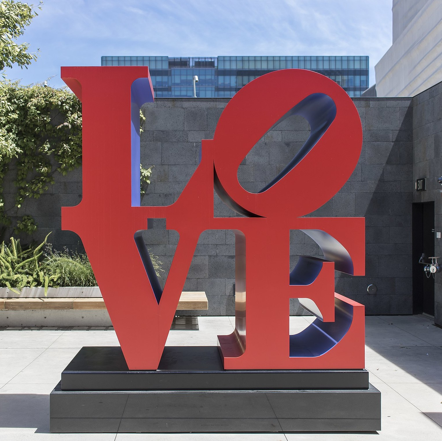 Robert Indiana, Love, 1973, at SFMoMA.