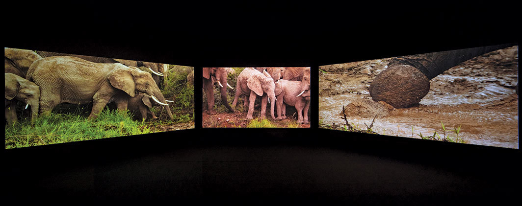 "John Akomfrah, Four Nocturnes, 2019, three-channel HD video, color, sound, 50 minutes. From ""Ghana Freedom,"" Ghana pavilion, Venice."