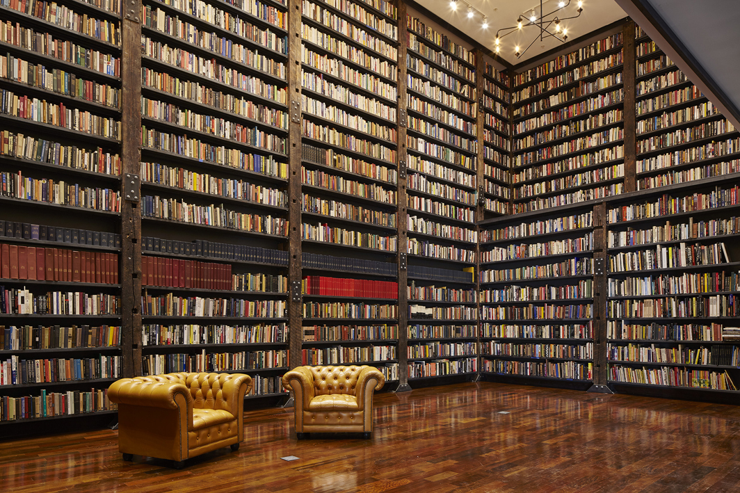 Theaster Gates's Stony Island Arts Bank library, Chicago, 2012 –. Photo: Tom Harris.