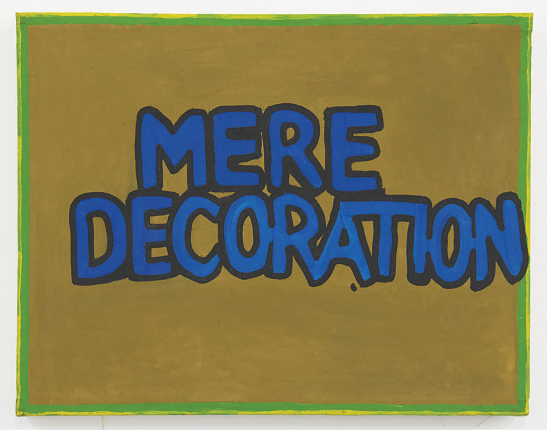 "Gene Beery, Mere Decoration, 1976, acrylic on canvas, 19 1⁄2 × 25""."