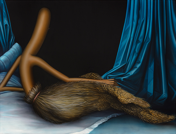 Emily Mae Smith, Gleaner Odalisque, 2019. Photo: Charles Benton. Courtesy of the artist and Perrotin.
